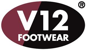 V 12 footwear logo.